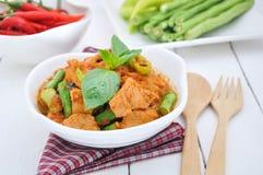 Smażący wieprzowina curry Fotografia Stock