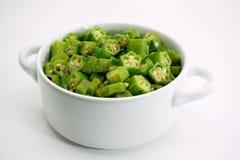 Smażący zielony okra z masłem 002 Obraz Stock