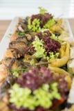 Smażący zucchini Zdjęcie Stock