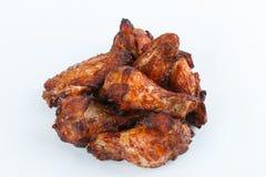 Smażę piec na grillu kurczak nogi na białym tle menu FastFood Obrazy Royalty Free