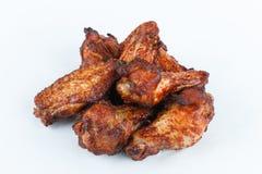 Smażę piec na grillu kurczak nogi na białym tle menu FastFood Obrazy Stock