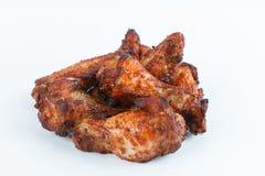 Smażę piec na grillu kurczak nogi na białym tle menu FastFood Zdjęcie Royalty Free