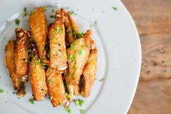 smażone kurczaki skrzydła Obrazy Royalty Free