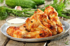 smażone kurczaki skrzydła Fotografia Stock