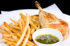 smażone kurczaki skrzydła Fotografia Royalty Free