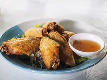 smażone kurczaki skrzydła Zdjęcie Stock