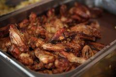 smażone kurczaki skrzydła Obraz Stock