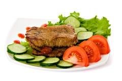 smażone mięsa Zdjęcie Stock