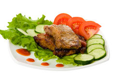 smażone mięsa Obrazy Stock
