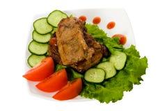 smażone mięsa Fotografia Stock
