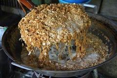 Smażyć cebule i tarta wieprzowina Zdjęcia Royalty Free