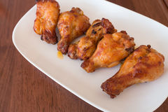 smażyć korzenne kurczak nogi Zdjęcia Stock