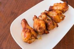 smażyć korzenne kurczak nogi Obraz Stock