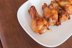 smażyć korzenne kurczak nogi Obrazy Royalty Free
