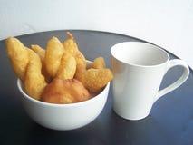 Smaży makreli jedzenie jest naglący Zdjęcie Stock