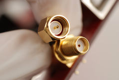 SMA connectors Royalty Free Stock Photography