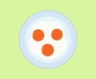 smażone jajka ilustracja wektor