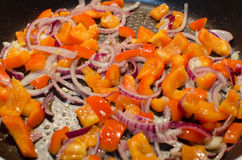 smażone warzywa Fotografia Stock