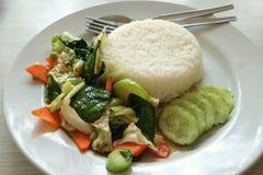 smażone warzywa Zdjęcia Royalty Free