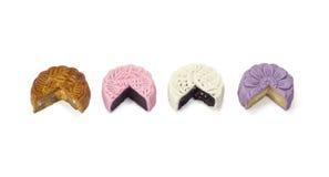 Smaak vier van mooncake Royalty-vrije Stock Fotografie