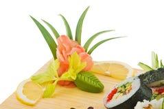 Smaakstof voor sushi stock afbeeldingen