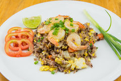 smażąca ryżowa garnela Fotografia Stock