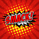Smack! Comic Speech Bubble, Cartoon. Royalty Free Stock Photos