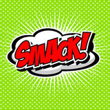 Smack! Comic Speech Bubble, Cartoon. Stock Photos