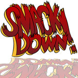 Smack Down Comic Sound Effect Text Stock Images