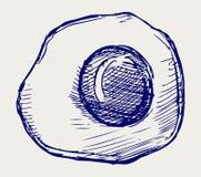 Smażący jajko. Doodle styl Zdjęcia Stock