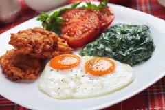 smażący śniadaniowi jajka Zdjęcia Stock