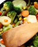 smażący warzywa Zdjęcia Stock