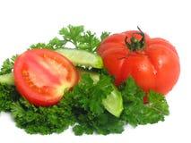 smaczne świeże warzywa Obraz Royalty Free