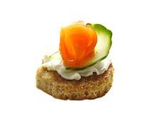 smacznego kąska łososiowy zucchini Obrazy Stock
