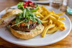 smaczny hamburger Obrazy Royalty Free