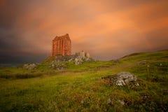 Smailholm塔,苏格兰边区 库存照片