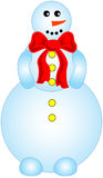 Smailing snowman. Funny vector illustration figure of smailing snowman Stock Photo