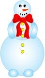 Smailing snowman Stock Photo