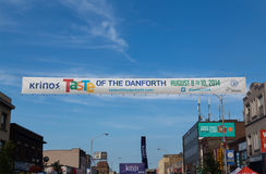 Smak av Danforthen Toronto Royaltyfri Bild