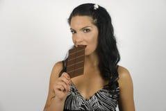 smak czekoladowa kobieta Obrazy Royalty Free