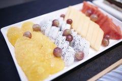 smak för fruktefterrätttabell Royaltyfri Bild