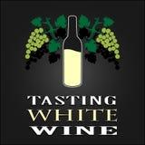 Smaka affischen för vitt vin också vektor för coreldrawillustration Royaltyfria Foton