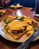 Smakar du sandwichï¼en Ÿ fotografering för bildbyråer