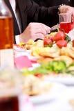 Smakelijk diner Stock Foto