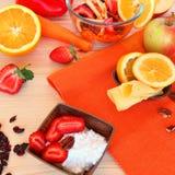 Smakelijk en gezond! Stock Foto's