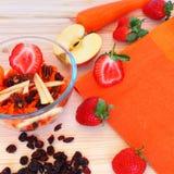 Smakelijk en gezond! Stock Foto