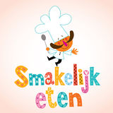 Smakelijk eten голландский декоративный тип с характером шеф-повара Стоковое Изображение RF
