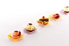 Smakelijk Frans dessert stock foto's