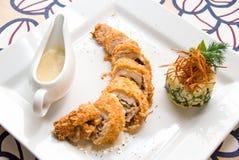 Smakelijk gastronomisch voedsel van kippenvlees stock fotografie
