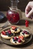 Smakelijk gebakje met vruchten royalty-vrije stock afbeeldingen